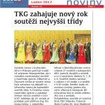 Zahájení roku TKG, HN 1/2017