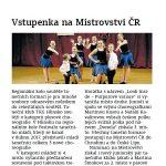 Festival tanečního mládí, HN, duben 2017