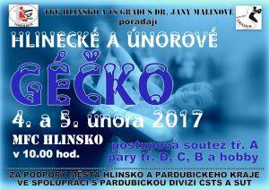 Plakát TKG Géčko 2017